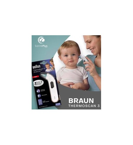 THERMOMETRE AURICULAIRE BRAUN THERMOSCAN 3